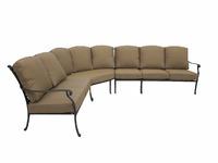 """""""Belgravia"""". Угловой диван из литого алюминия."""