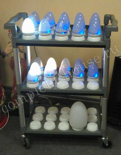Тележка для зарядки светодиодных ламп дома
