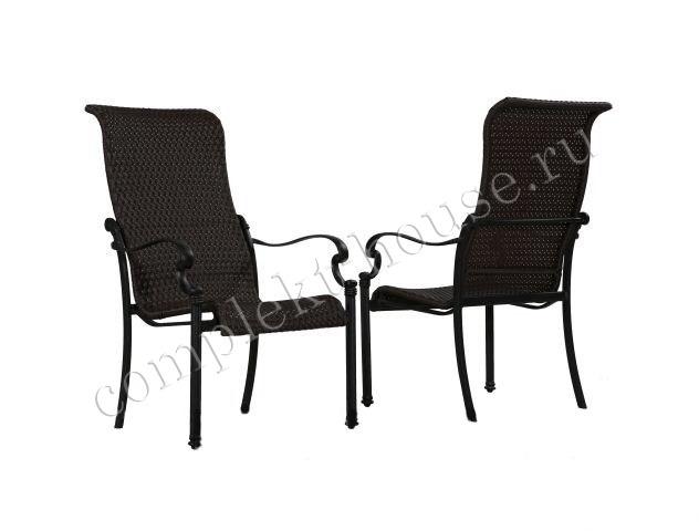 """""""Belgravia"""". Кресло обеденное из литого алюминия, ротанг."""