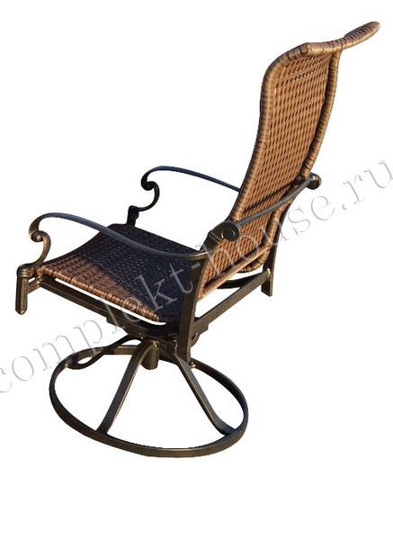 """""""Belgravia"""". Кресло вращающееся из литого алюминия."""