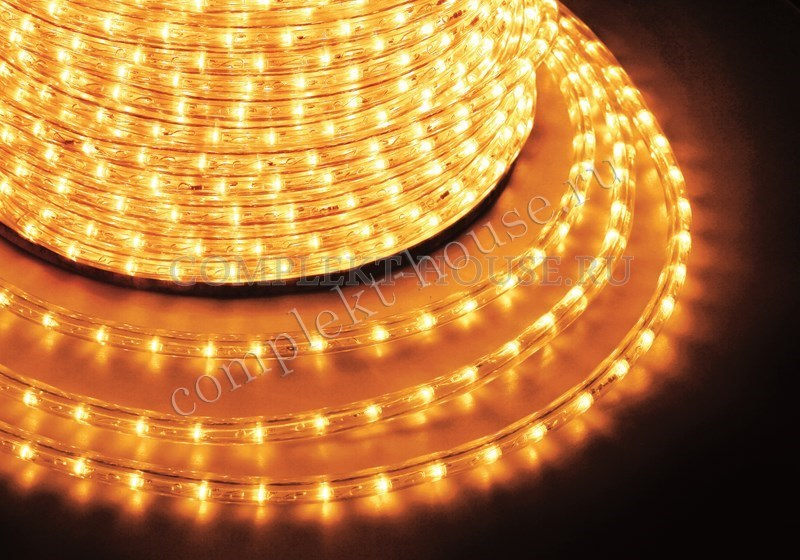 Дюралайт светодиодный, фиксинг(2W), бухта 100м