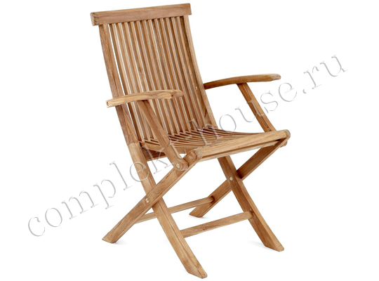 """Turin"".  Кресло из тика, раскладное."