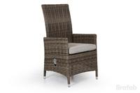 """Ninja-brown"". Плетеное кресло, регулируемая спинка."