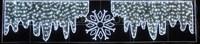 """""""Снежинка с сосульками"""". Световая фигура с дюралайтом."""