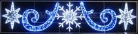 """""""Снежинка и звезды"""". Световая фигура с дюралайтом."""