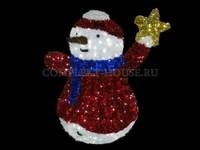 """""""Снеговик со звездой"""". Световая фигура."""