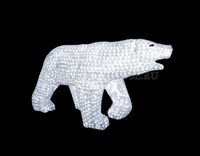 """""""Белый медведь"""".Высота 1м. 3D Акриловая светодиодная фигура."""