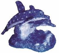 """""""Синие дельфины"""". 3D акриловая светодиодная фигура."""