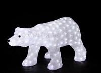 """""""Белый медведь"""". 3D акриловая светодиодная фигура."""