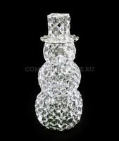 """""""Снеговик"""". 3D стеклянная светодиодная фигура."""
