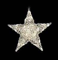 """""""Звезда"""". 3D стеклянная светодиодная фигура."""