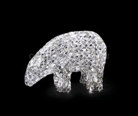 """""""Белый медведь"""". 3D стеклянная светодиодная фигура."""