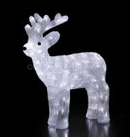 """""""Северный олень 45 см"""". 3D акриловая светодиодная фигура."""