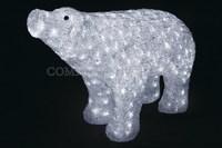 """""""Белый медведь 80 см"""". 3D акриловая светодиодная фигура."""