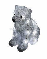 """""""Медвежонок 29 см"""". 3D акриловая светодиодная фигура."""