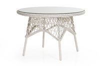 """Beatrice"". Плетеный стол, диаметр 110 см."