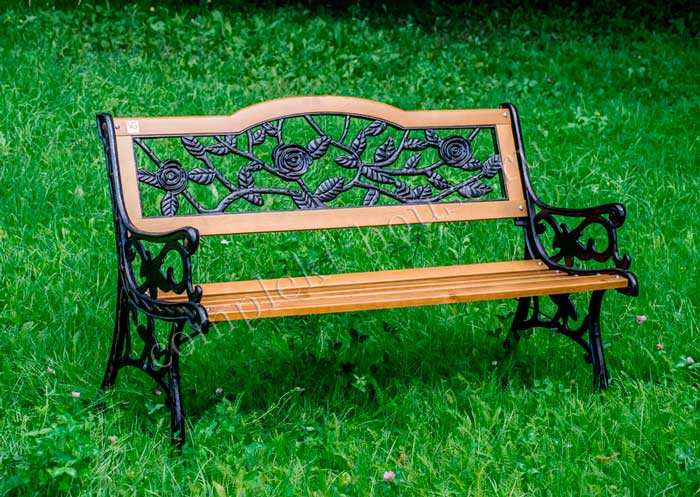 """Roza"". Скамейка садово-парковая."