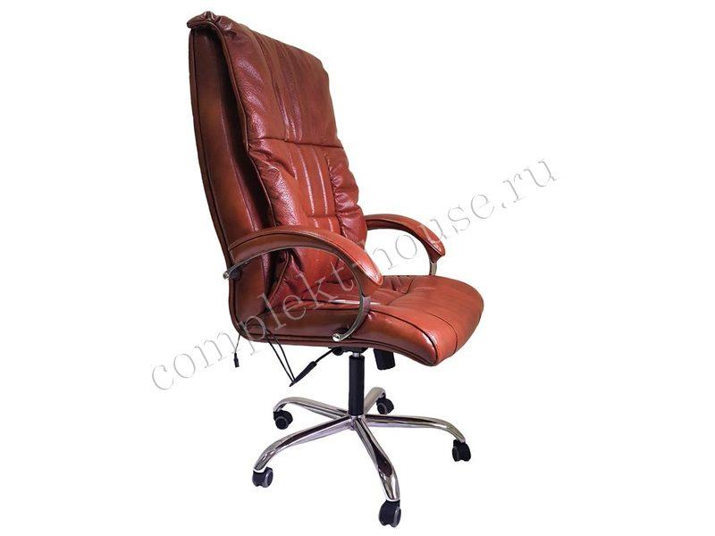 """""""BOSS EGO"""". Массажное кресло, ELITE (натуральная кожа) mahagon."""