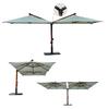"""""""Double"""". Двойной уличный зонт(2 шт. по 3х3м)."""