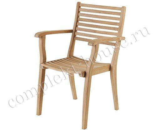 """Calcutta"".Кресло из тика, штабелируемое."