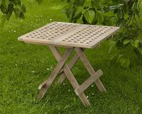 """Samos"". Стол из тика, размер 50х58 см, складной."
