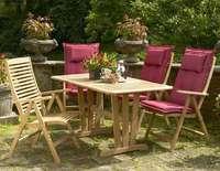 """""""Cornelia"""".Стол из тика, раскладной, размер 125/185x90 см."""