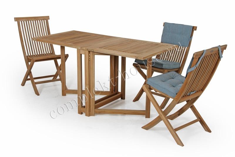 """Turin"". Стол из тика, складной (146х70х74 см)."