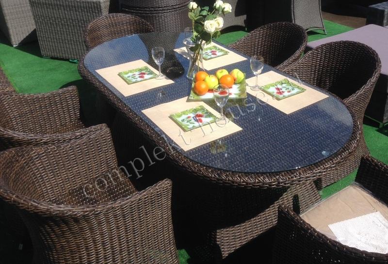 """""""Malaga"""". Стол обеденный, овальный, 210х100х74 см."""