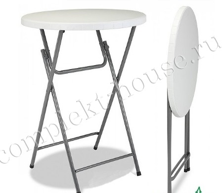 """""""Solid"""". Фуршетный стол складной (D 80х110 см)."""