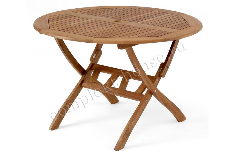 """""""Everton"""". Стол из акации, складной (D 110 см)."""