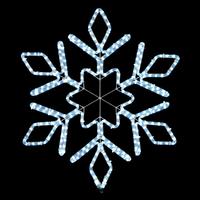 Светодиодная снежинка 1,15 м Snowflake