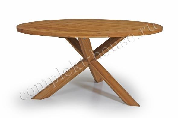 """""""Eios"""". Стол из тика, диаметр 150 см."""