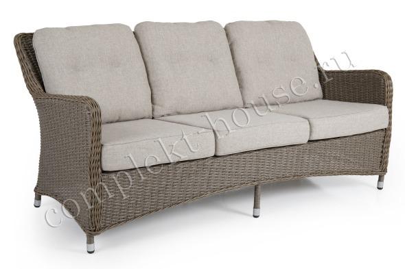 """""""Hornbrook"""". Плетеный диван, 3-х местный."""