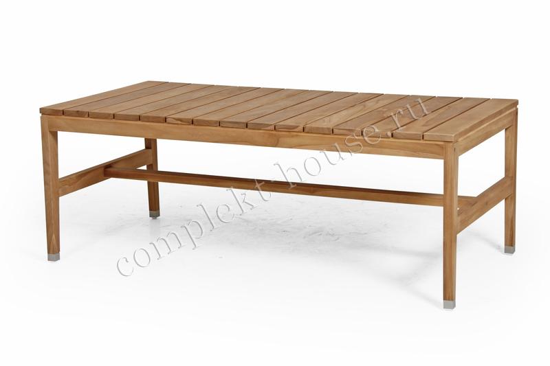 """Elati"". Кофейный столик из тика (140х70х50 см)"
