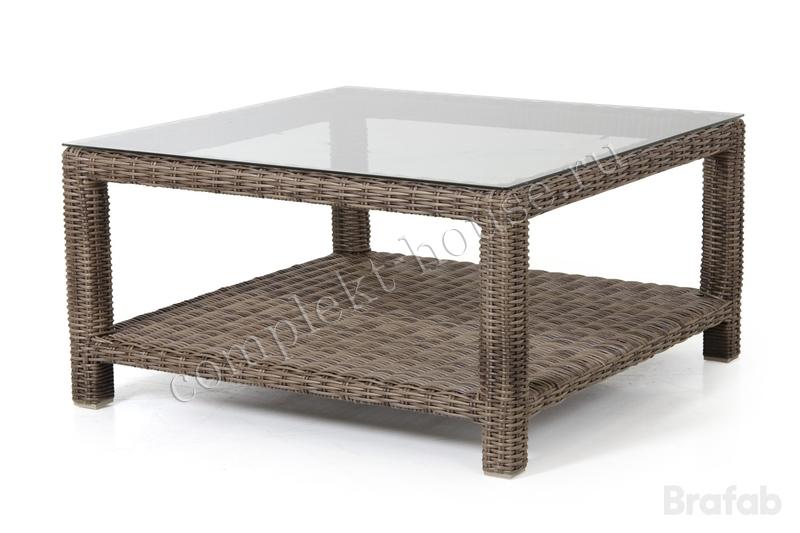 """Ninja-brown"". Кофейный столик, 90х90 см."