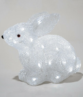 Светодиодная фигура 3 D Кролик 25см