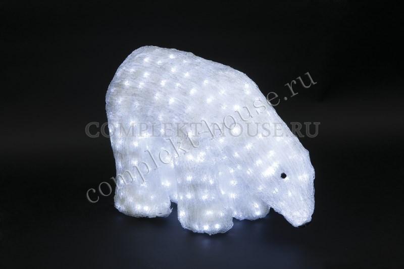 """""""Белый медведь"""".Высота 0,4м. 3D Акриловая светодиодная фигура."""