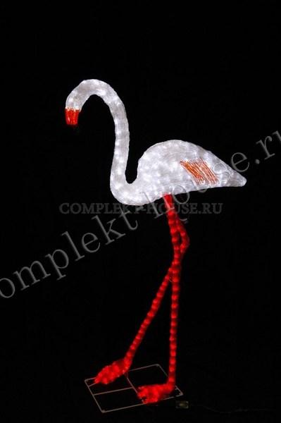 """""""Фламинго белый"""". 3D акриловая светодиодная фигура."""