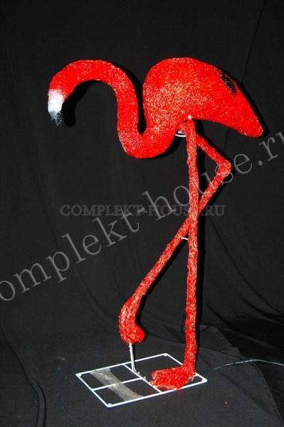 """""""Фламинго красный"""". 3D акриловая светодиодная фигура."""