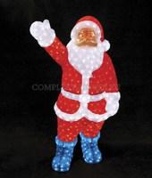 3D акриловая светодиодная фигура Санта Клаус 120 см