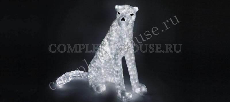 3D акриловая светодиодная фигура Леопард сидит