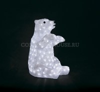 """""""Белый медведь сидит"""". 3D акриловая светодиодная фигура."""