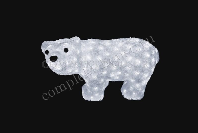 3D акриловая светодиодная фигура Белый мишка стоит