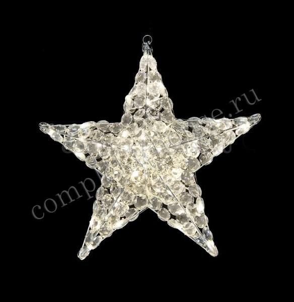 3D стеклянная светодиодная фигура Звезда