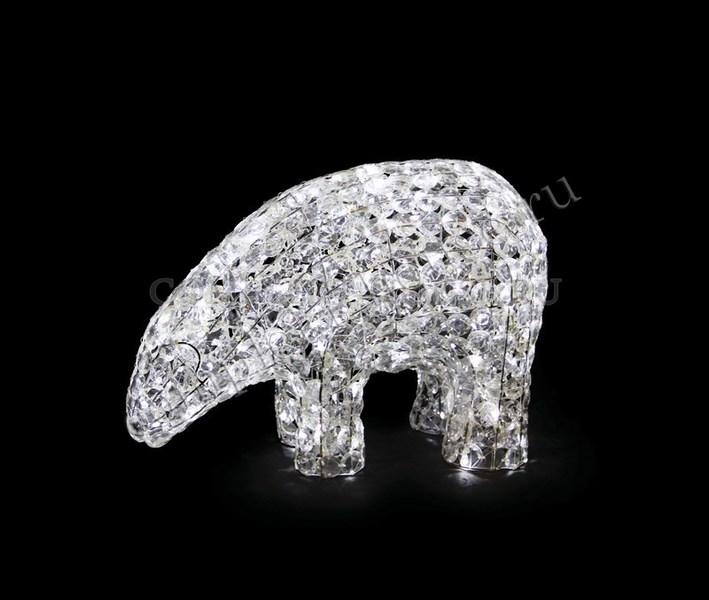 3D стеклянная светодиодная фигура Белый медведь
