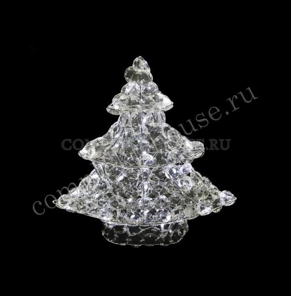 """""""Новогодняя ель"""". 3D стеклянная светодиодная фигура."""
