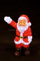 3D акриловая светодиодная фигура Санта Клаус приветствует 60 см