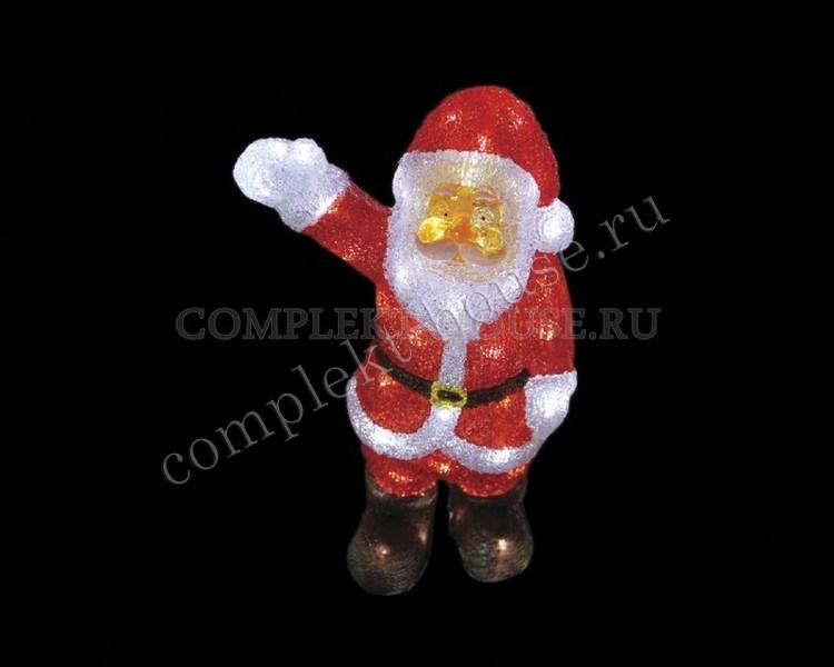 3D акриловая светодиодная фигура Санта Клаус приветствует 30 см