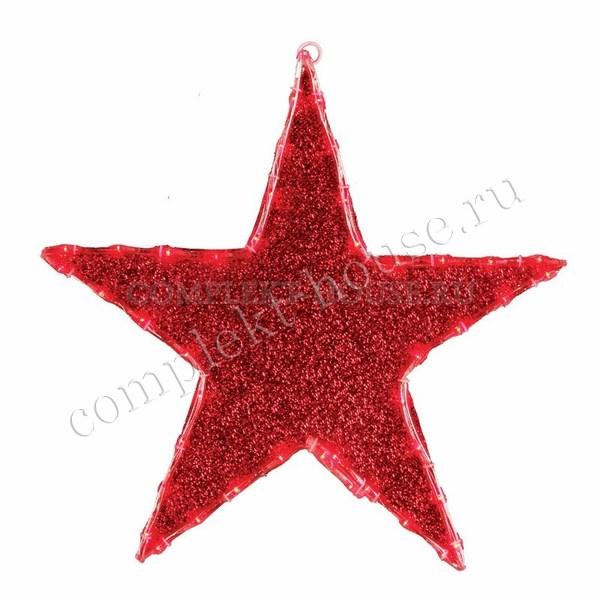 Светодиодная фигура Звезда бархатная 45 см