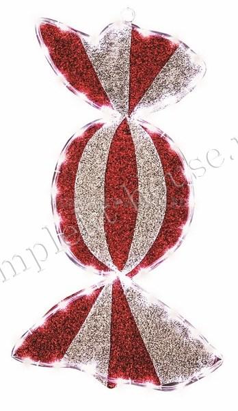 Светодиодная фигура Карамель бархатная 60х30 см